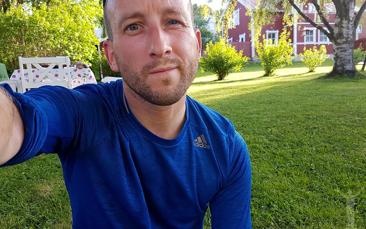 Dryden efter en mils löpning