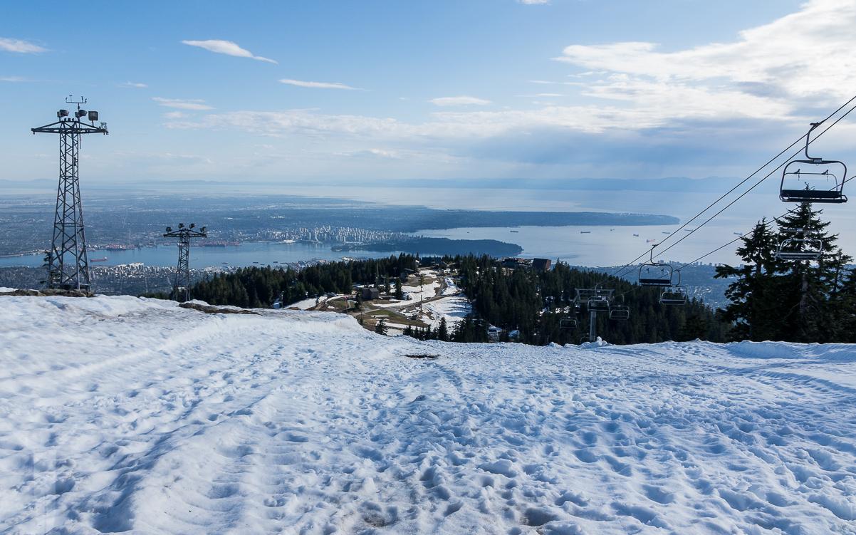 Toppen av Grouse Mountain