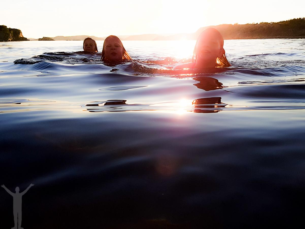 Saltvatten och bad i Kämpersvik