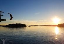 Från hopptornet i Kämpersvik