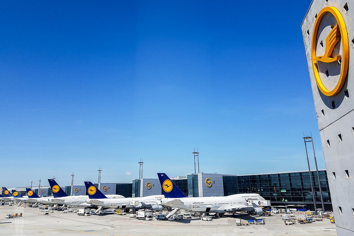 Lufthansa i Frankfurt - ett av de bästa flygbolagen