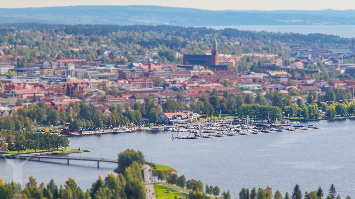 Utsikt över Östersund från Frösöberget