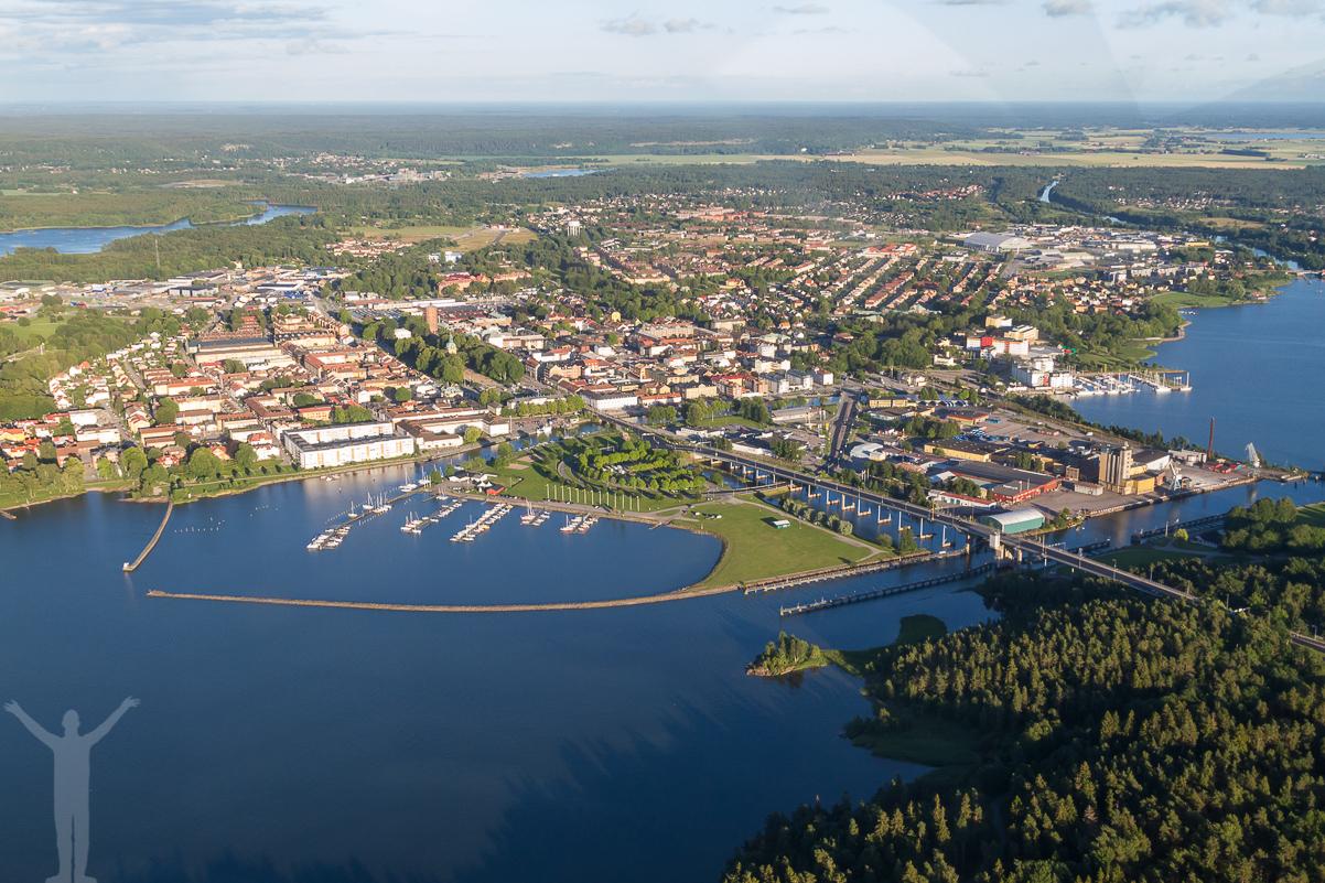 Flygfoto över Vänersborg