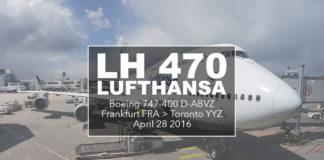 LH470 - från Frankfurt till Toronto