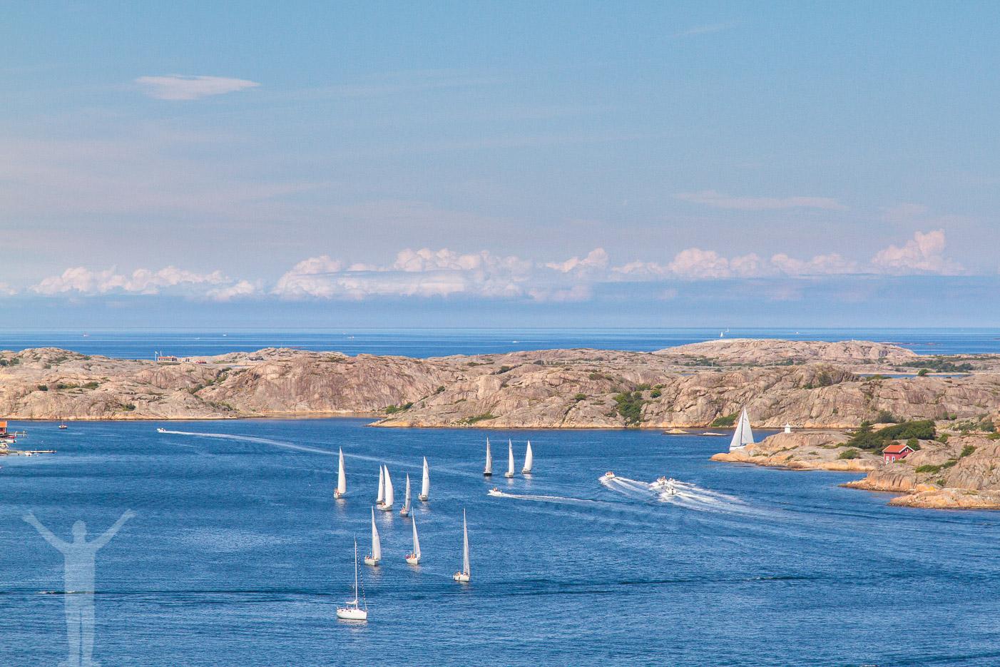 Segelbåtar på västkusten