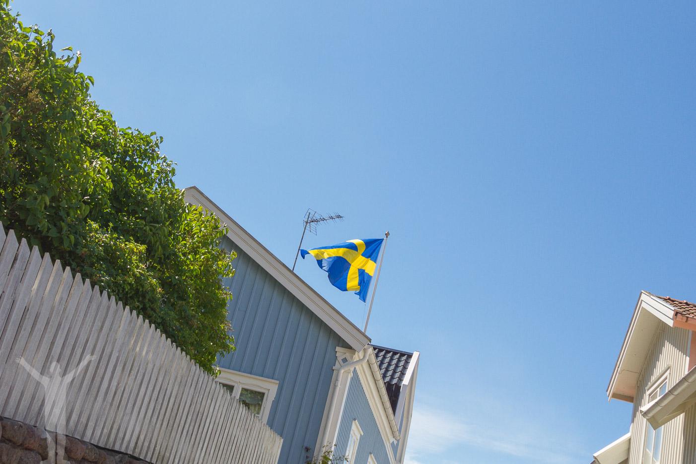 Svensk flagga i Fjällbacka