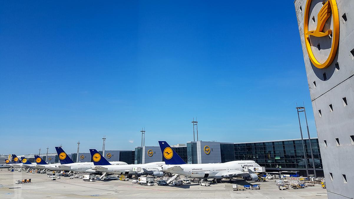 Lufthansa i Frankfurt