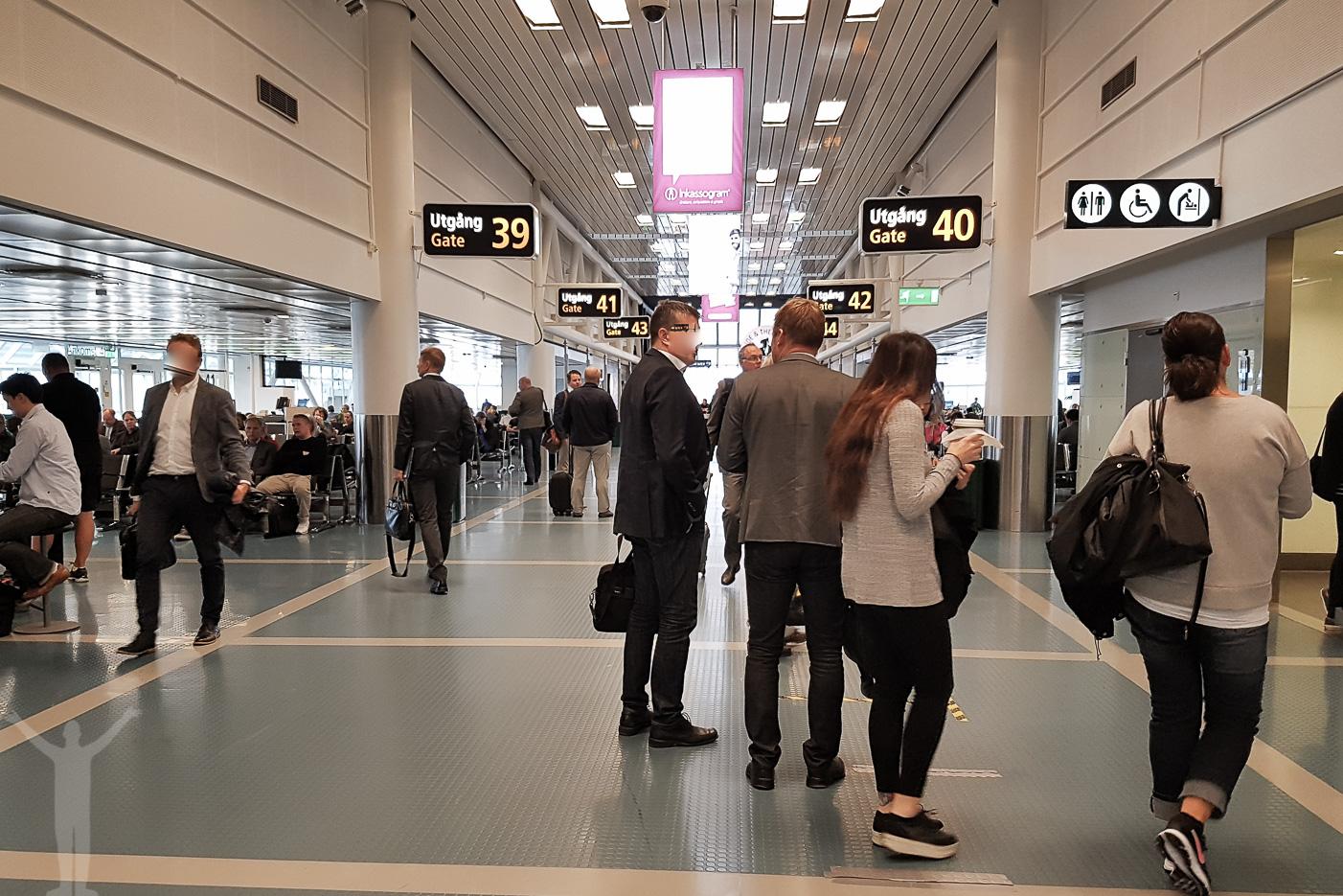 När helvetet fryser till is - trevlig personal vid Arlanda Terminal 4.