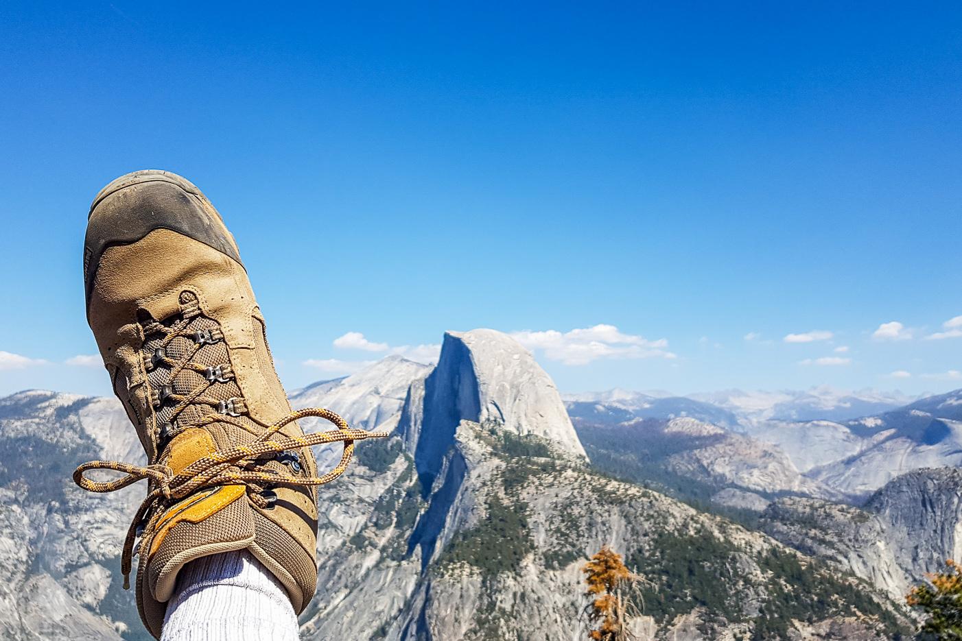 Riktiga kängor om du ska vandra i Yosemite