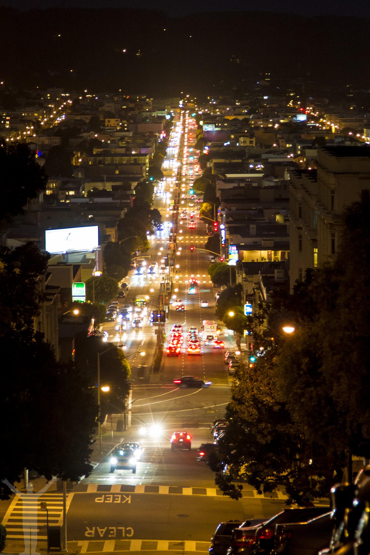 Lombard Street - nattfoto