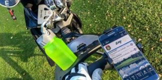 Mobilhållare till golfvagnen
