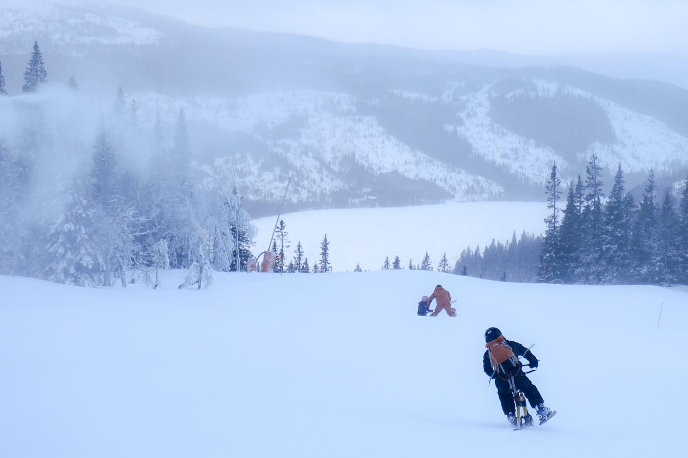 Dryden på snowbike