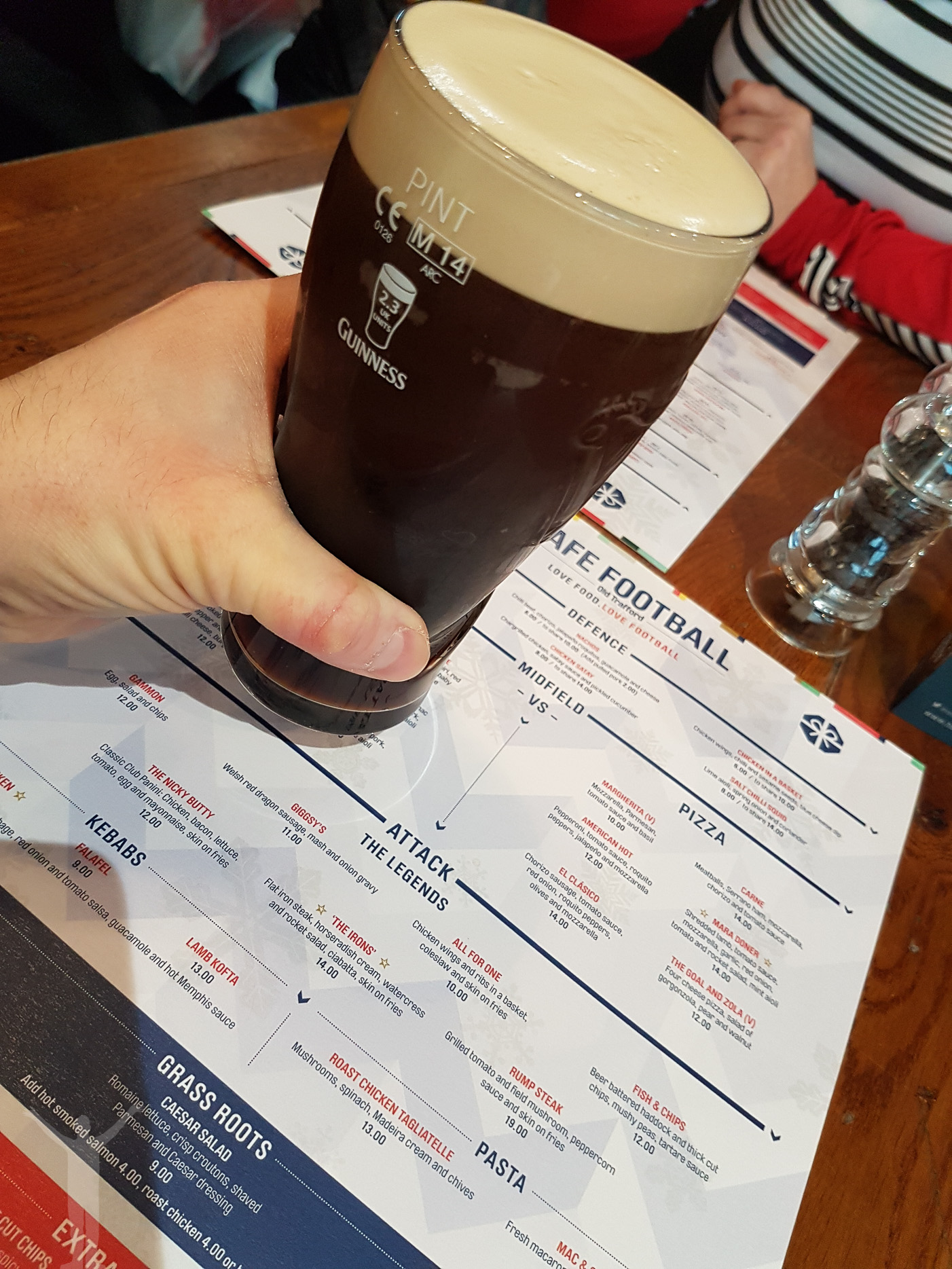 En Guinness på Hotel Football