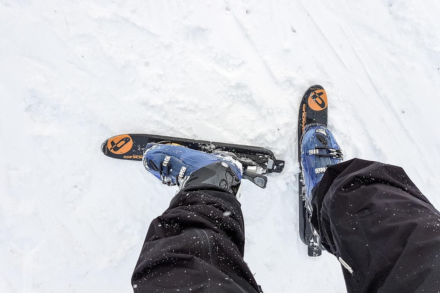 Skidor för snobike