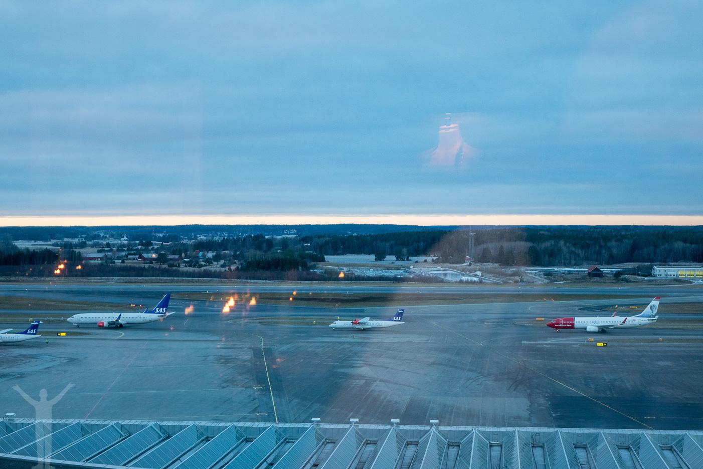 Utsikten från Kitchen & Table på Arlanda
