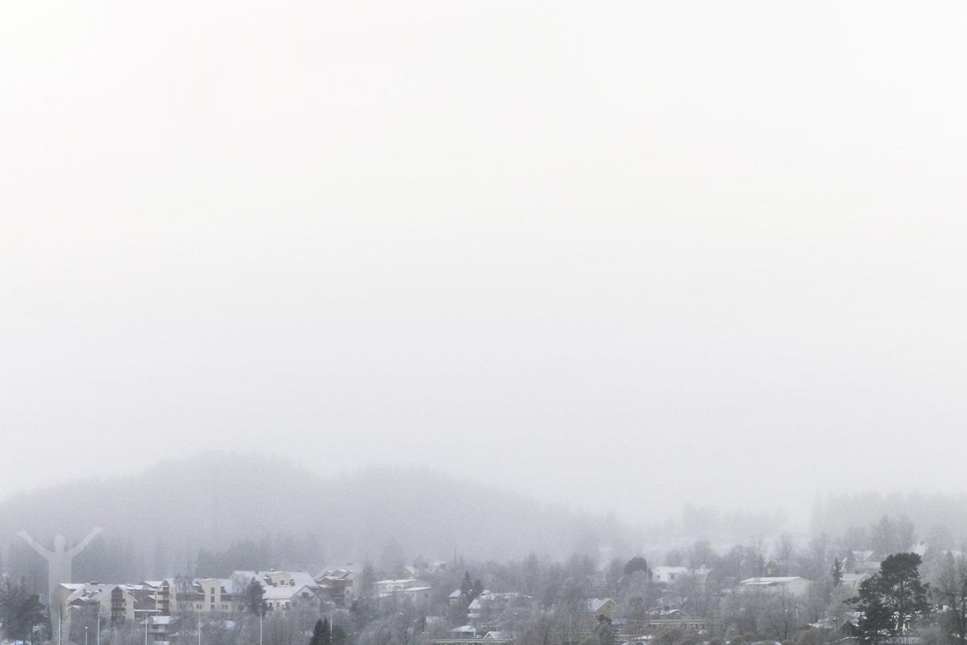 Frösön i dimman