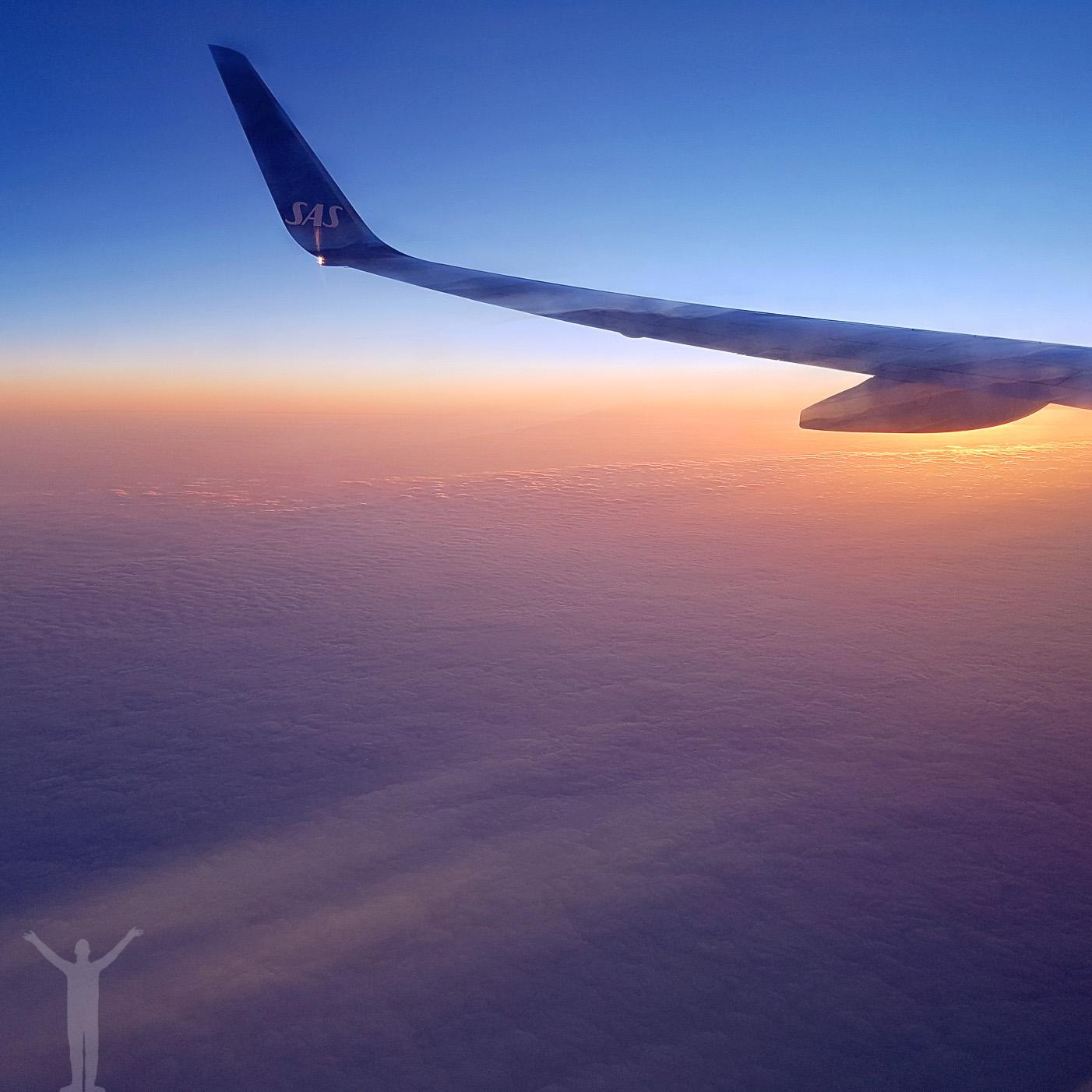 Soluppgång på 35000 fot