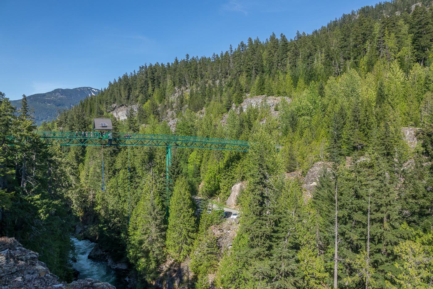 Bungy jump, Whistler i Kanada