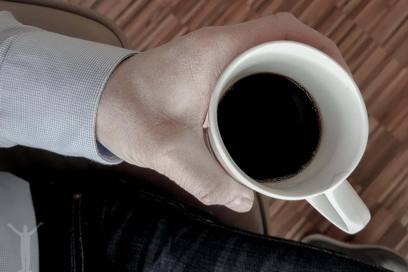 En mugg kaffe.