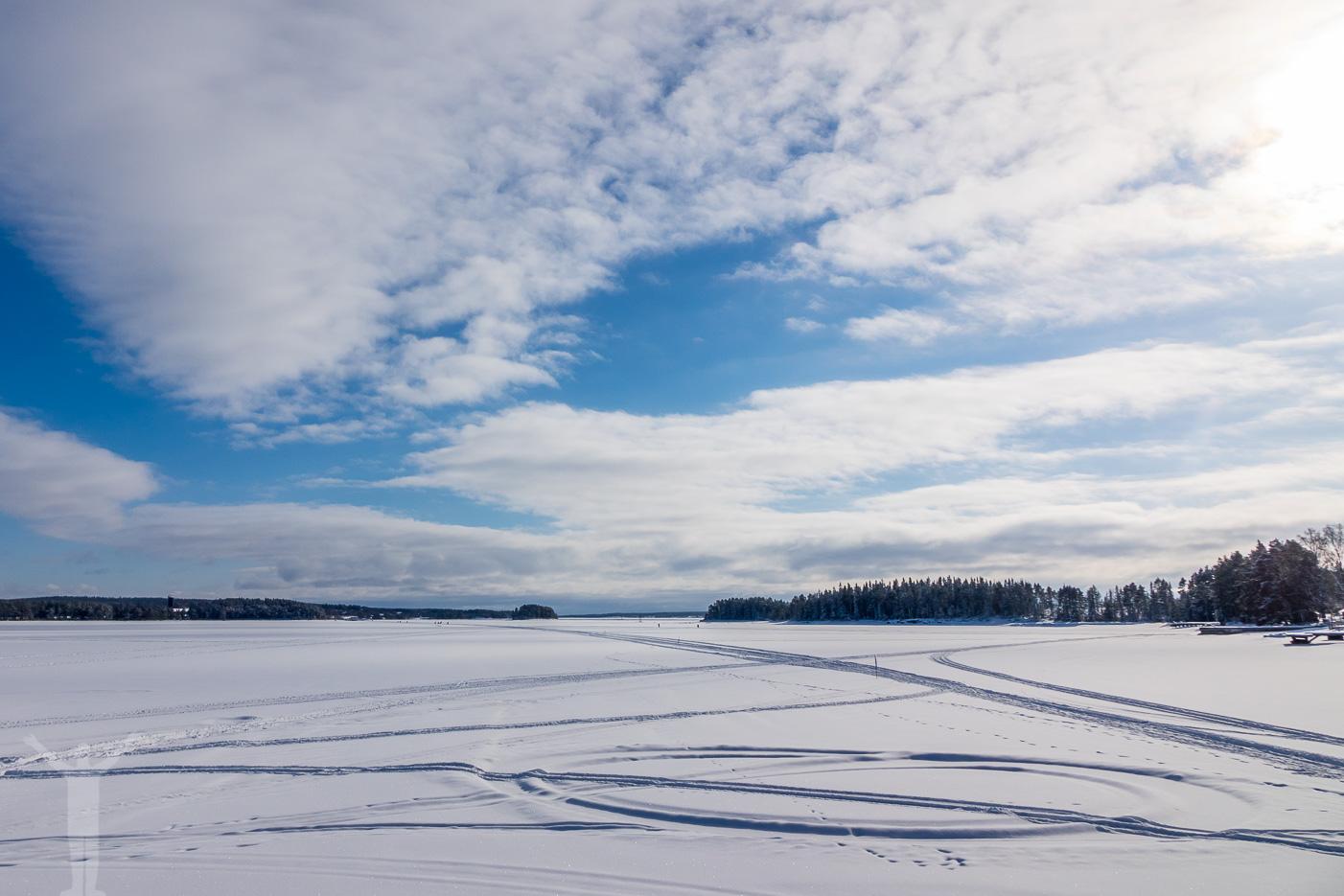 Storsjöns is - vårvinter i mars