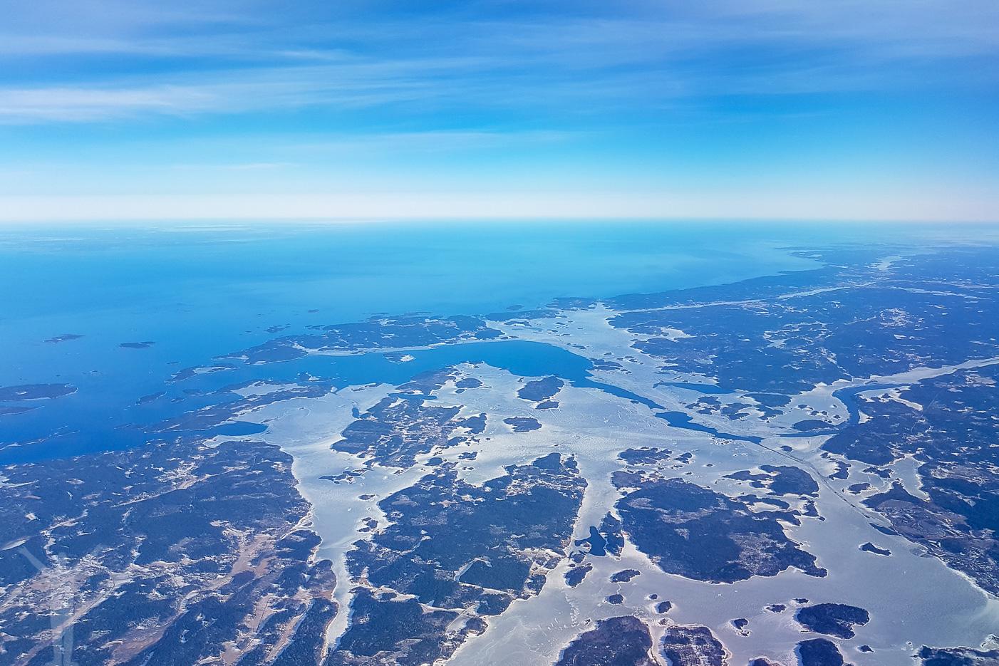 Östkusten från 31000 fot