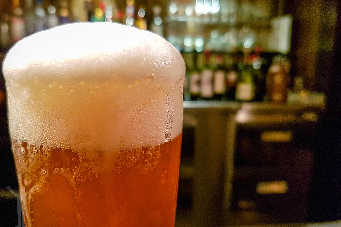 Första klunken på ölen är alltid den godaste