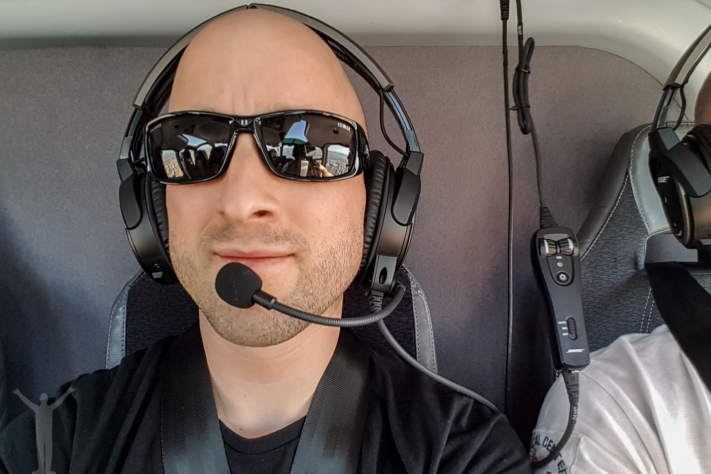 Dryden på helikoptertur