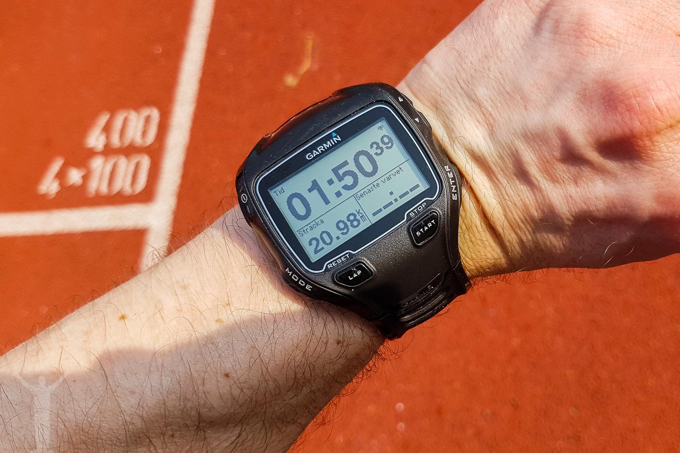 GPS-klockan efter målgången