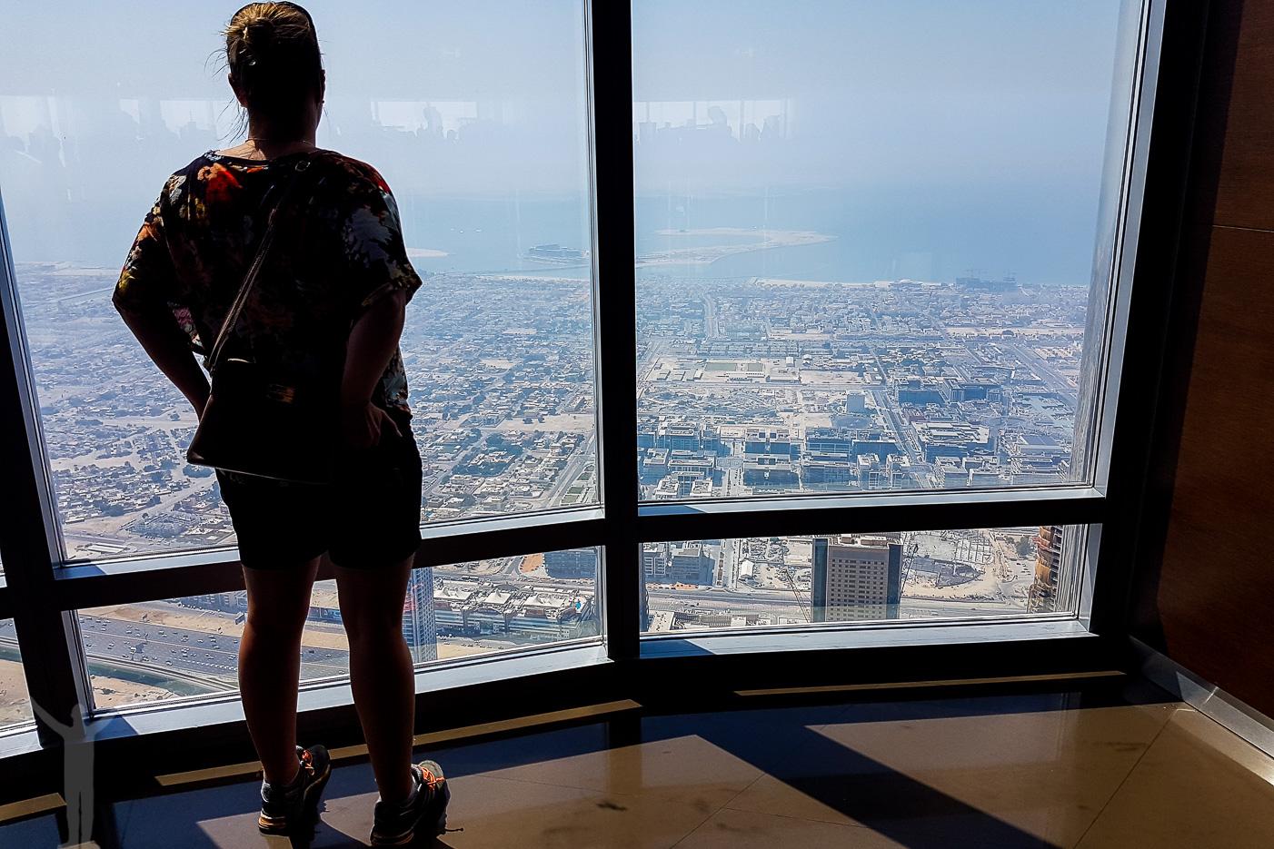 Fin utsikt från 125:e våningen i Burj Khalifa