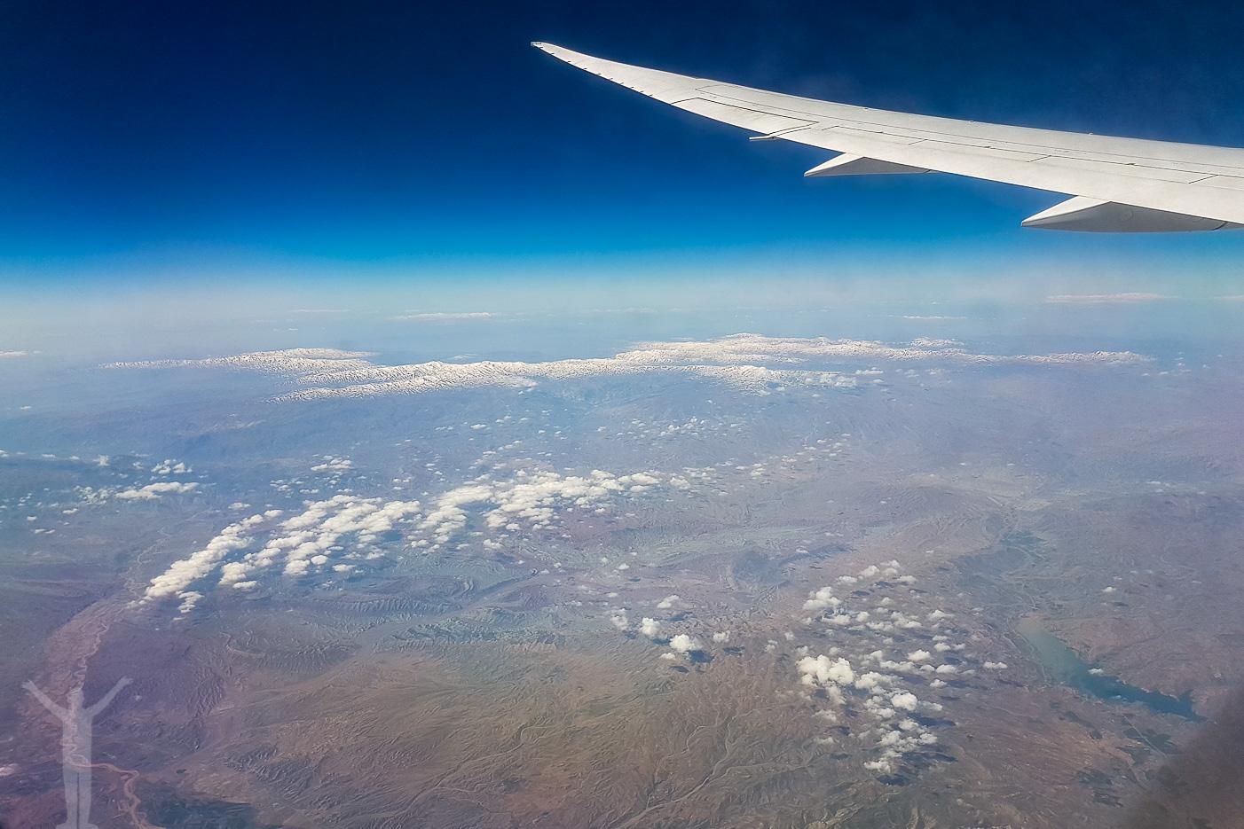 Utsikt från flygresan hem