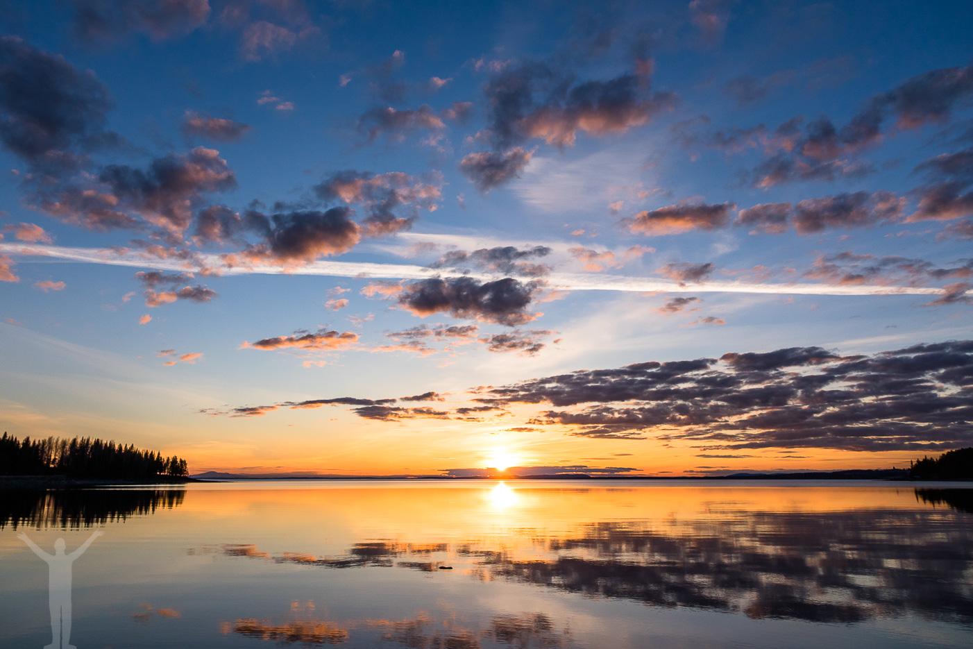 Solnedgång över Storsjön
