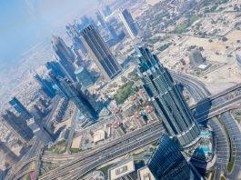 Dubai från 125:e våningen