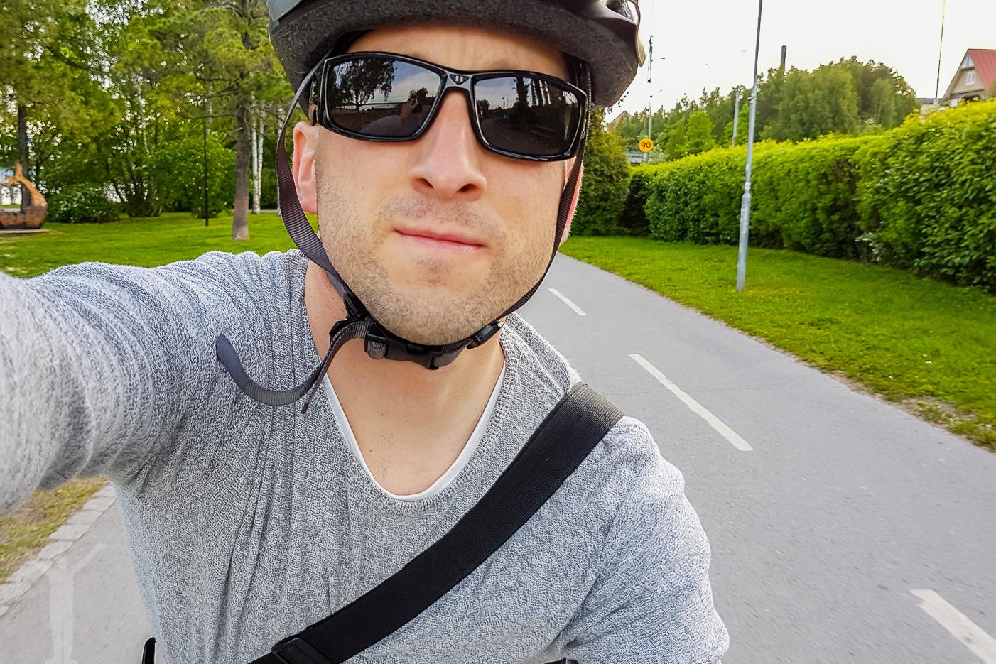 Dryden på cykel