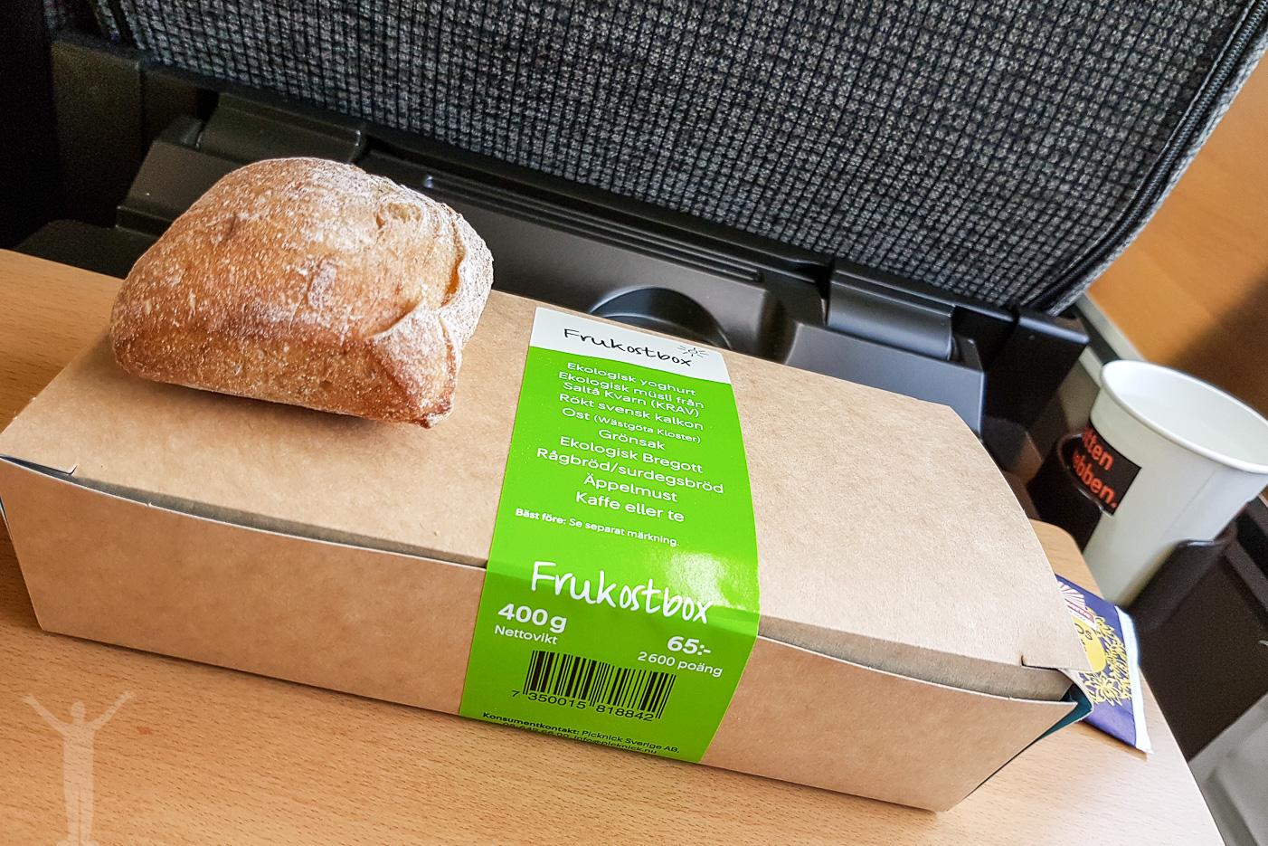 Frukost på SJ Snabbtåg