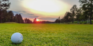 Golf och solnedgång på Frösön