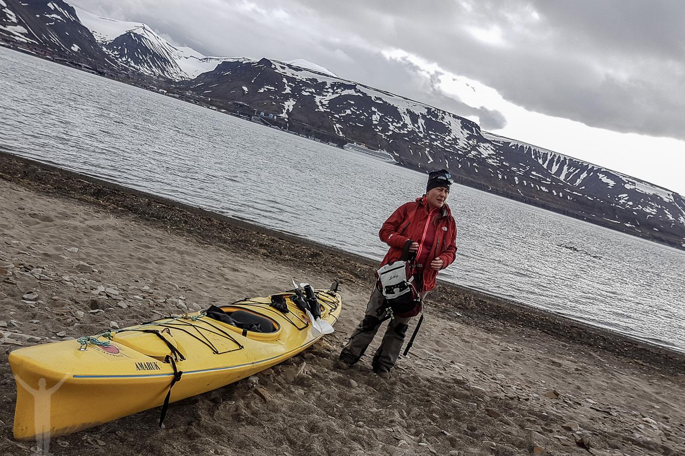 Kajakpaddling på Svalbard