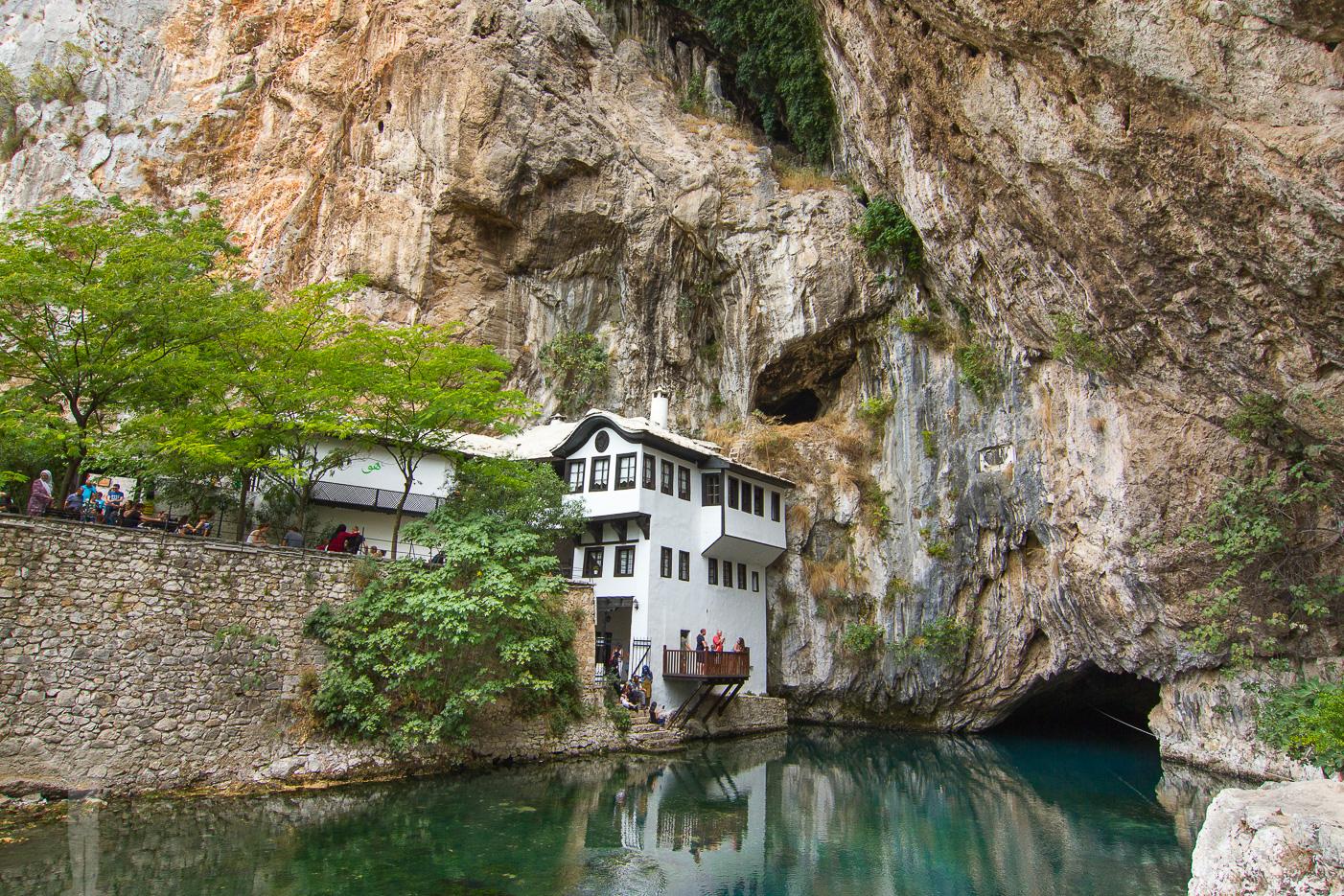 Blagaj ligger utanför Mostar
