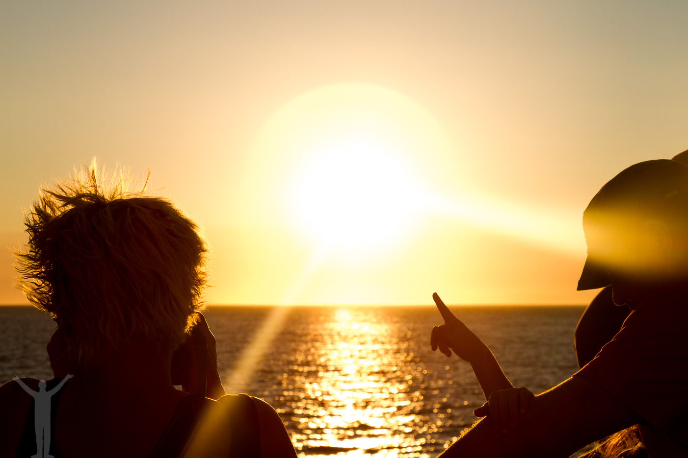 Solnedgång över Adriatiska havet