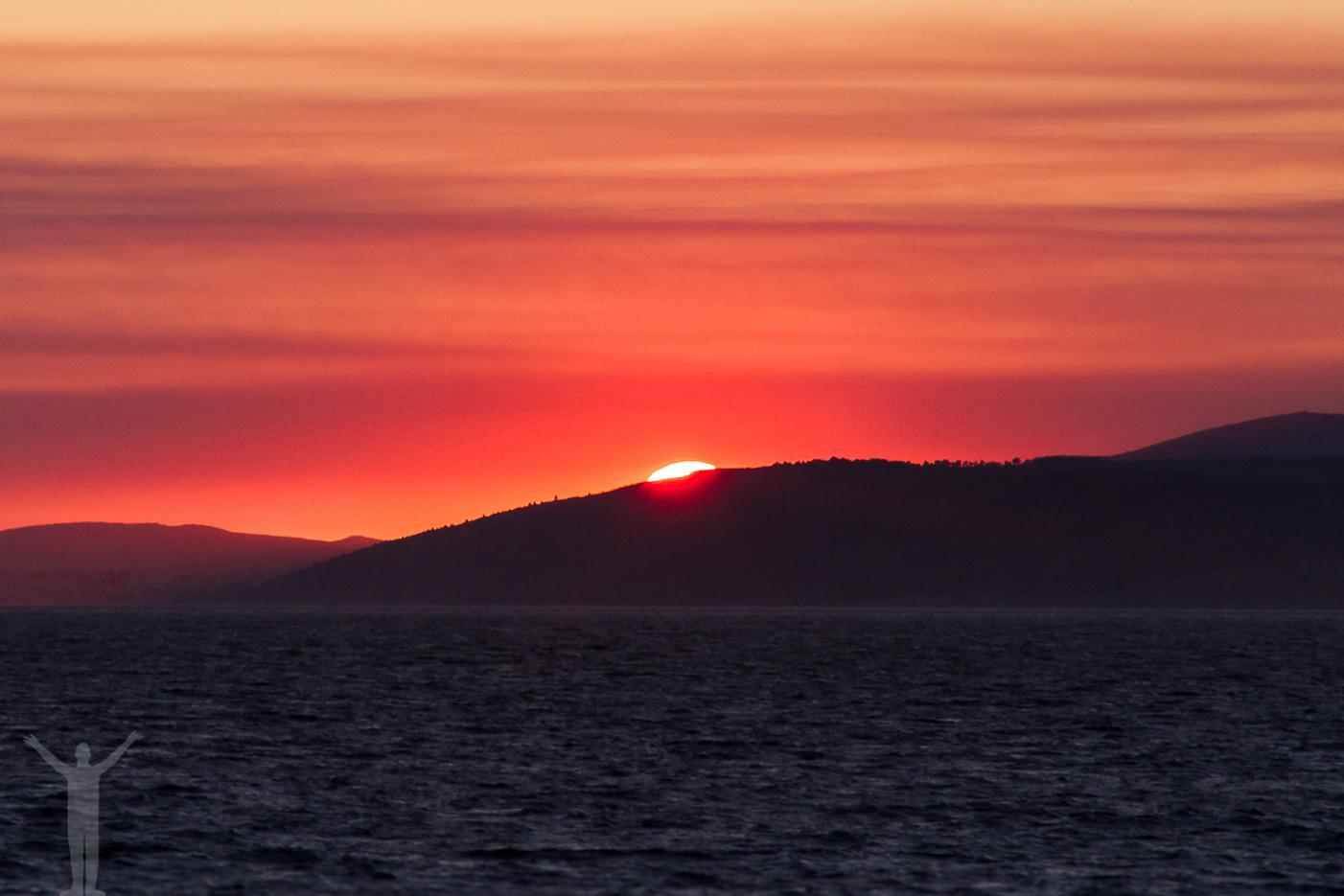 När solen gått ner över Kroatien