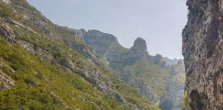 Bergspass i Bosnien