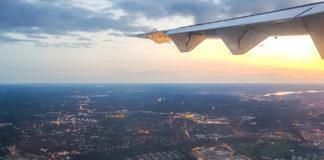 Kvällsinflygning över Stockholm