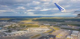 Takeoff från Arlanda flygplats