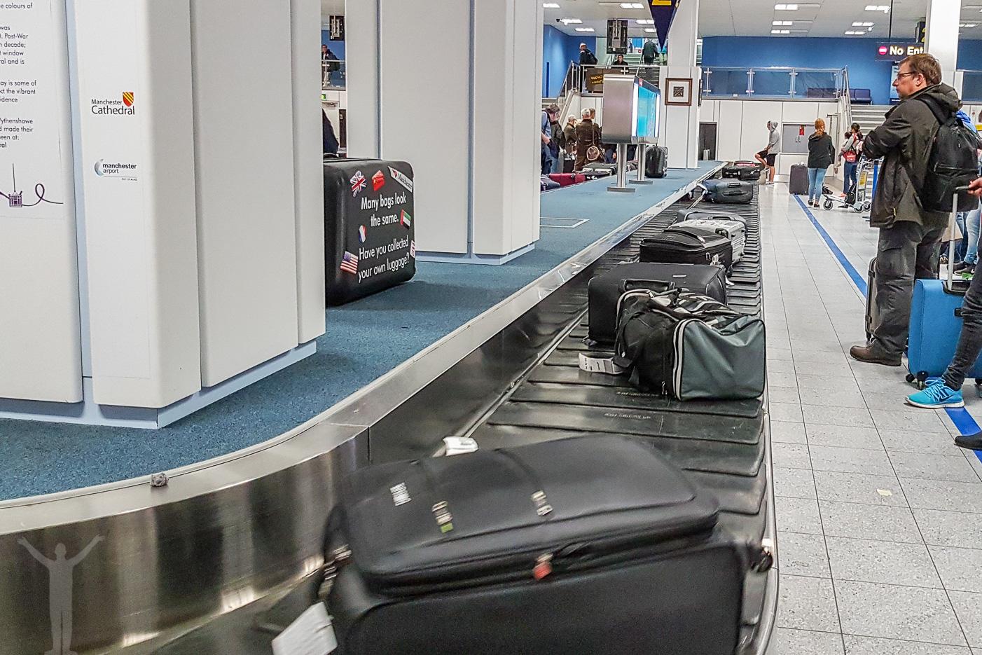 Bagage på Manchester Airport