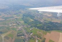 Takeoff från Bryssels flygplats