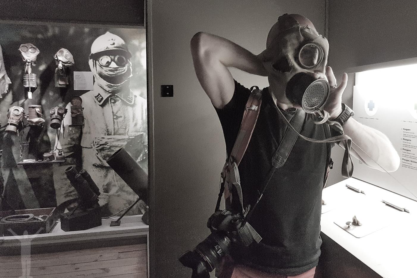 Att testa en gasmask