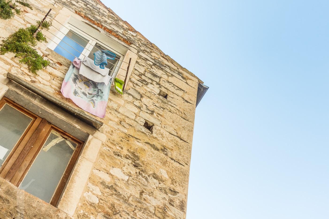 Kläder på tork i Split
