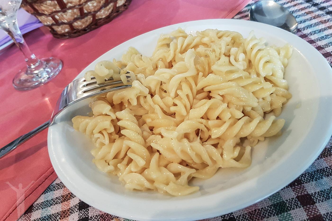 Pasta med ost - vare sig mer eller mindre