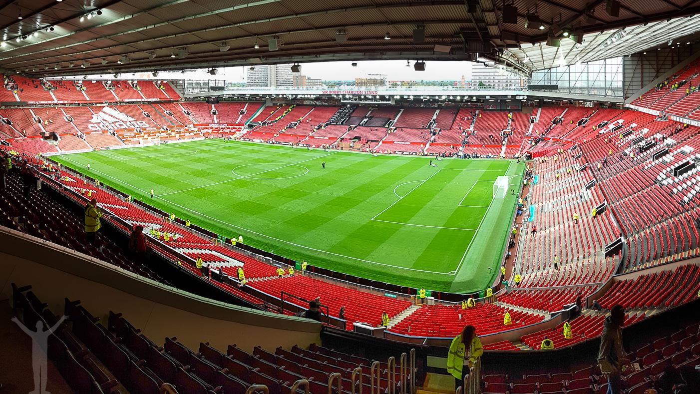 Efter matchen, inne på Old Trafford