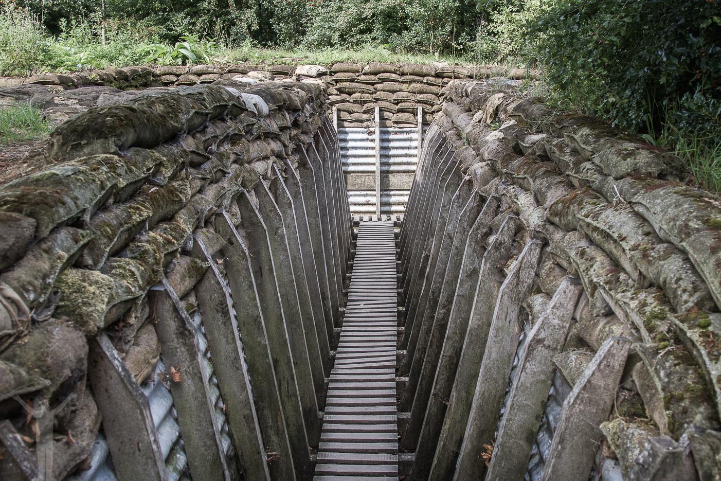 Replika på skyttegrav