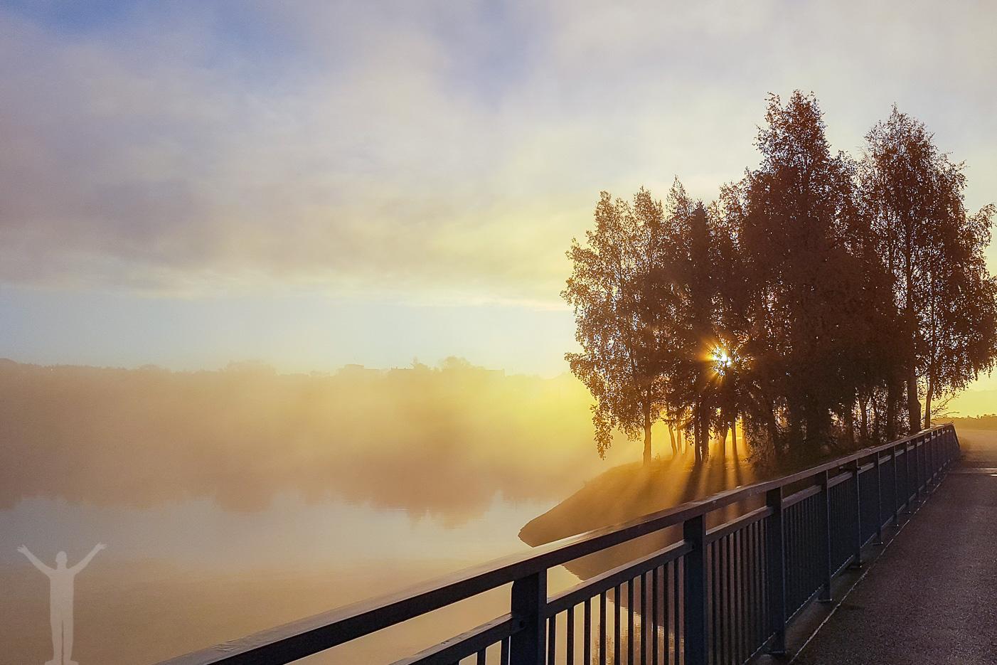 Gångbron från Frösön till Östersund